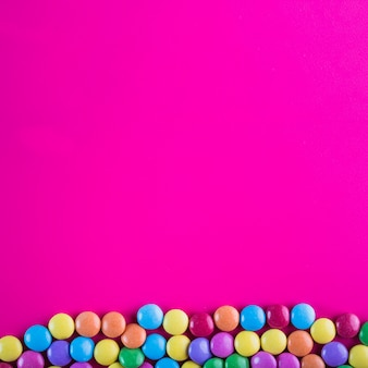 Jasne przyciski cukierków