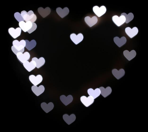 Jasne tło bokeh serca