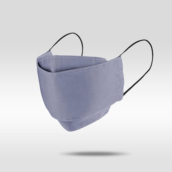 Jasnofioletowo-niebieska maska materiałowa na szaro