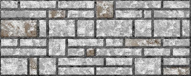 Jasnoszary mur z cegły. tłoczona tekstura tła. dekoracyjne płytki kamienne do projektowania