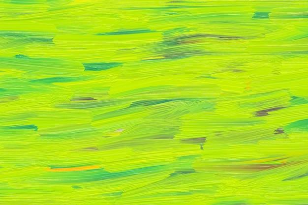 Jasnozielona i żółta konsystencja, pstrokate pociągnięcia, rozmazana akwarele