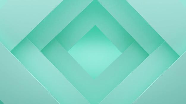 Jasnozielony obraz tła w kształcie wielokąta, abstrakcyjne tło, renderowanie 3d