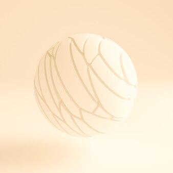 Jasnożółty streszczenie tło. ilustracja, renderowanie 3d.