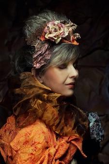 Jasny kreatywny makijaż piękna kobieta