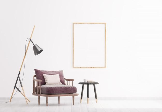 Jasny nowoczesny salon wnętrza