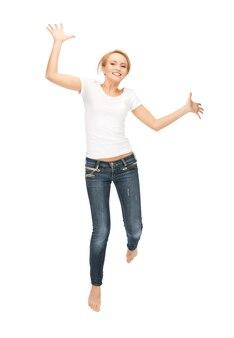 Jasny obraz szczęśliwej i beztroskiej nastolatki