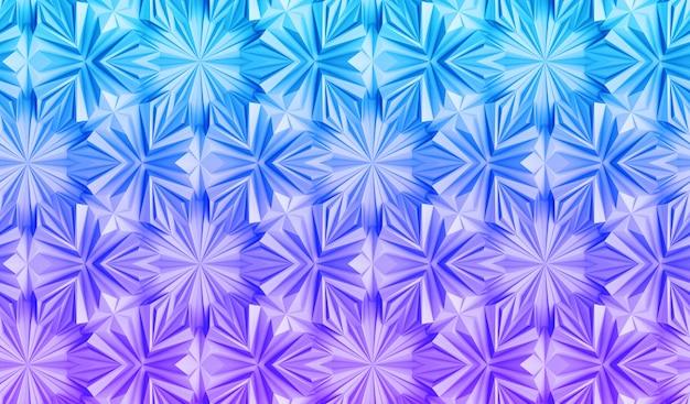 Jasny trójwymiarowy wzór geometryczny z przejściem koloru gradientu