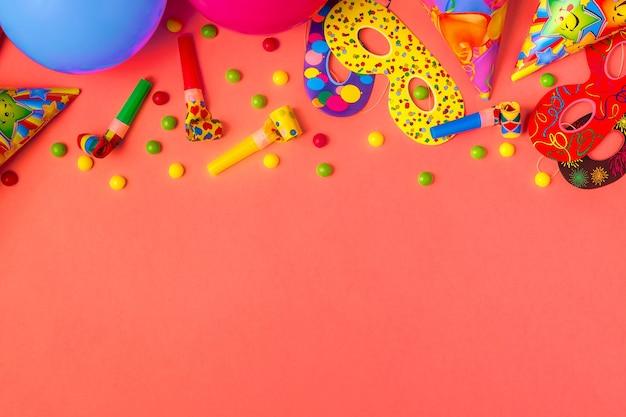 Jasny wystrój na urodziny, imprezę, festiwal lub karnawał.