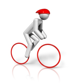 Jazda na rowerze symbol 3d