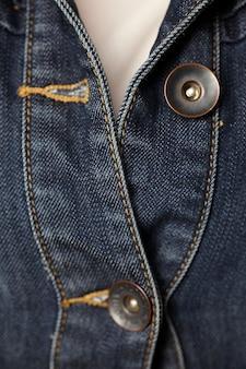 Jeansowa kurtka i guziki do szycia