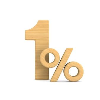Jeden procent na białym
