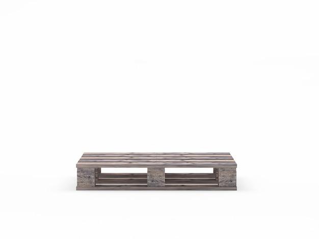 Jedna brązowa pusta drewniana paleta
