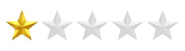 Jedna na pięć gwiazdek