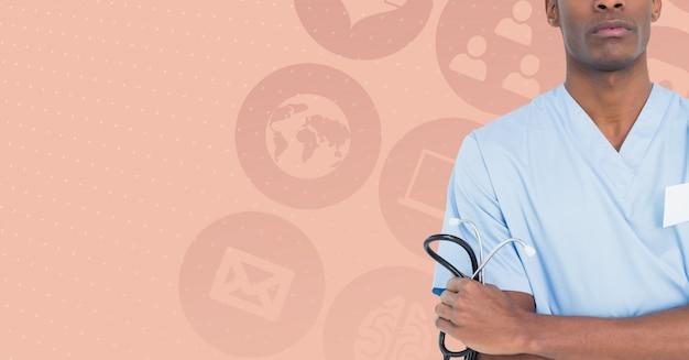 Jednolita służba zdrowia medycznych ikony komputera