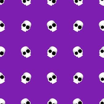 Jednolity wzór halloween. obraz czaszek.