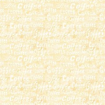 Jednolity wzór kawy z napisem