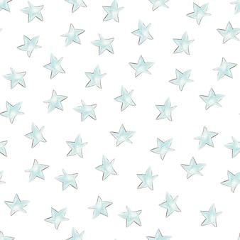 Jednolity wzór kreskówka wielobarwne gwiazdy. druk cyfrowy.