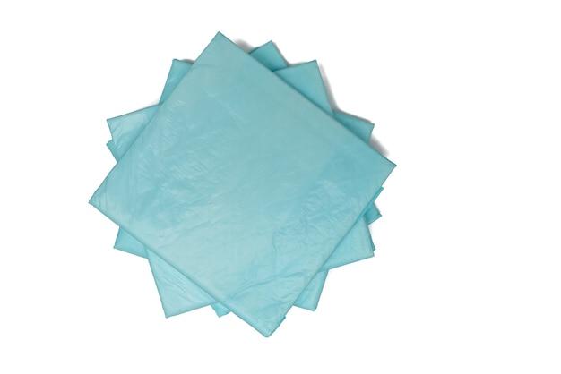 Jednorazowe pieluchy medyczne niebieskie
