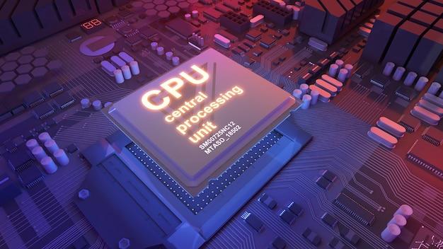 Jednostka centralnaobróbka technologii przetwarzaniakoncepcyjny procesor na płytce drukowanej