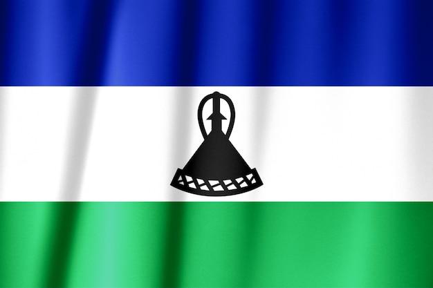 Jedwabna flaga lesotho. flaga lesotho z tkaniny jedwabnej