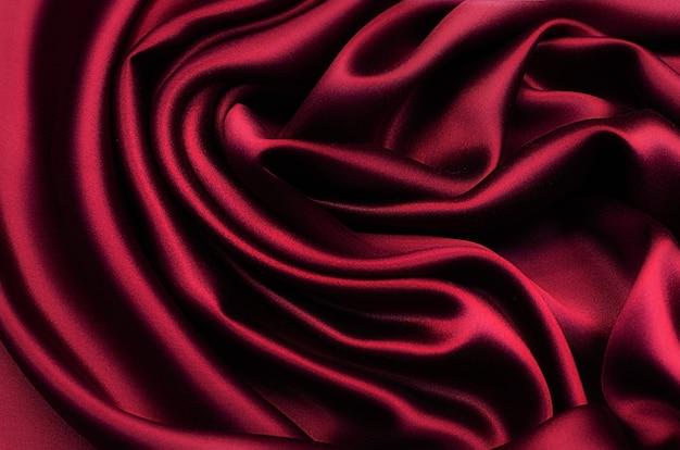 Jedwabna, satynowa bordowa tkanina