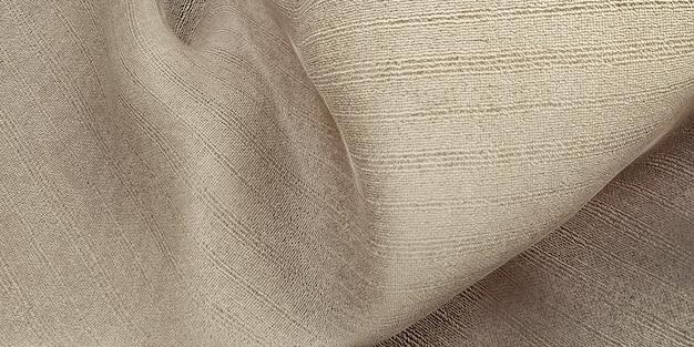 Jedwabna tekstura fala kurtyna tkanina z organzy jasnobeżowa ilustracja 3d