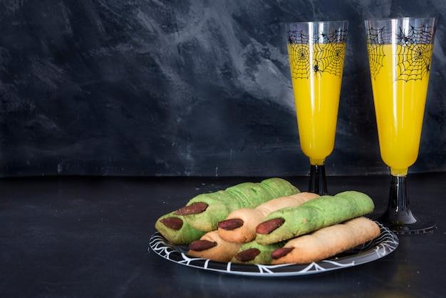 Jedzenie i picie na przyjęcie halloweeen