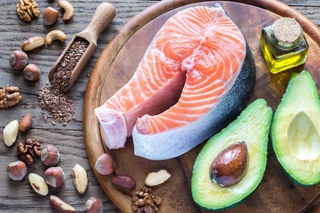 Jedzenie z tłuszczami omega-3