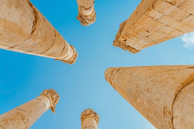 Jerash, gerasa starożytności jest stolicą i największym miastem jerash