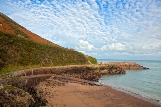 Jersey przybrzeżny krajobraz hdr