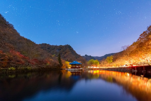 Jesień w naejangsan nationnal park, korea południowa