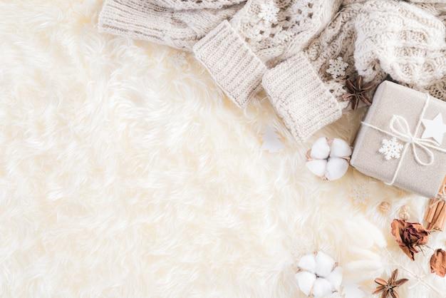 Jesieni lub zimy składu tło.