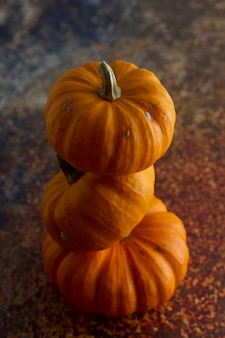 Jesienią składu dynie pomarańczowe textured textured