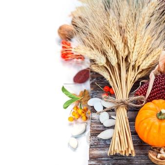 Jesienna kompozycja. koncepcja święto dziękczynienia