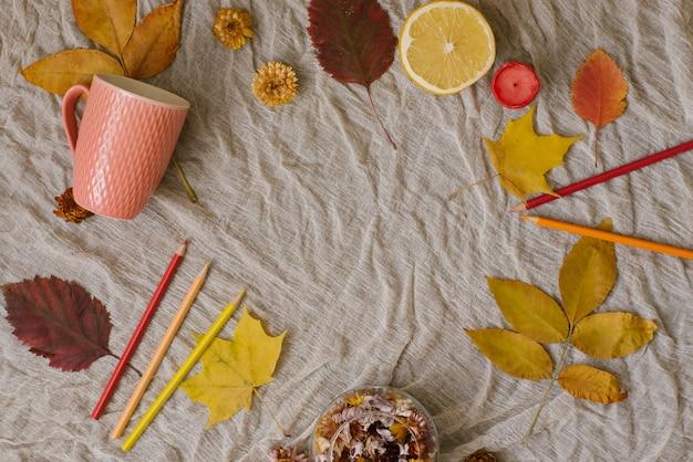 Jesienna kompozycja tło