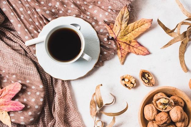 Jesienna kompozycja z góry