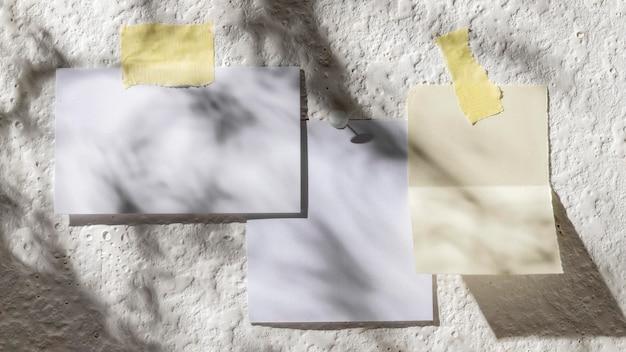 Jesienna koncepcja moodboard z miejsca na kopię