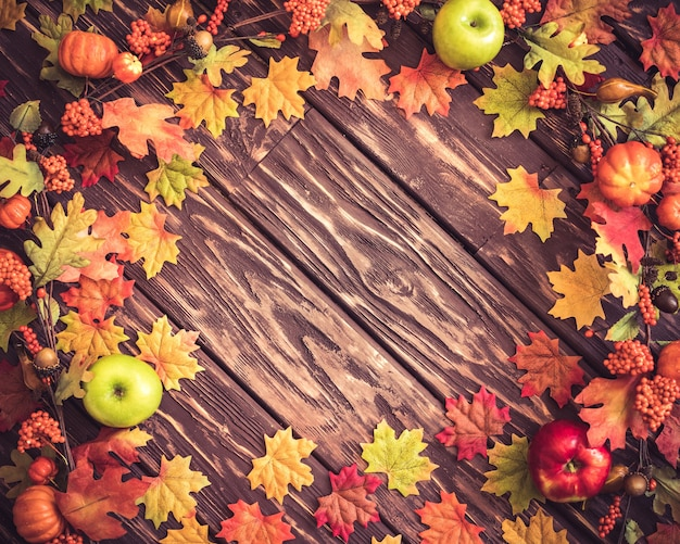 Jesienna obramowanie ramki święto dziękczynienia holiday concept