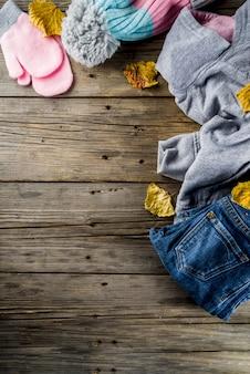 Jesienne ciepłe ubrania dla dziewczynki