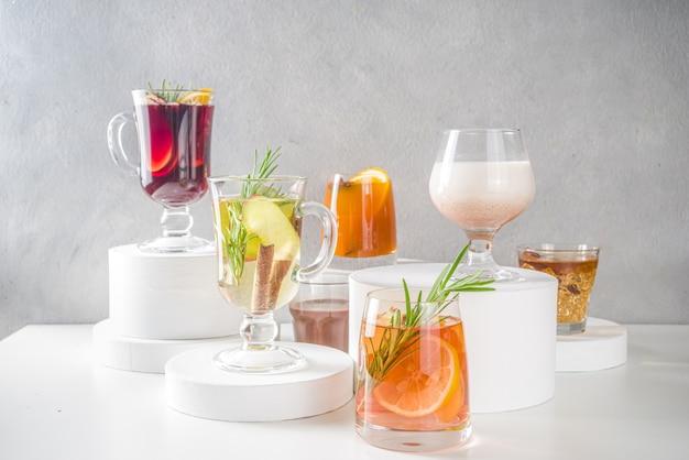 Jesienne koktajle grzane wino