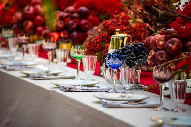 Jesienne nakrycie stołu
