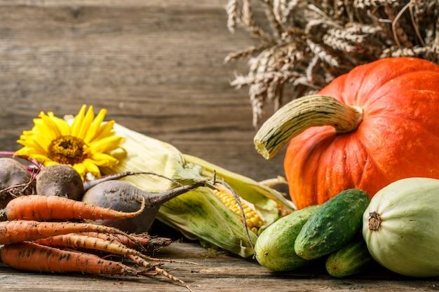 Jesienne rustykalne warzywa