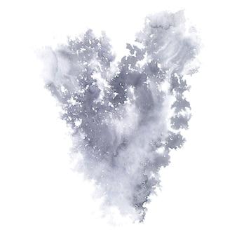 Jesienne serce akwarela streszczenie tło.