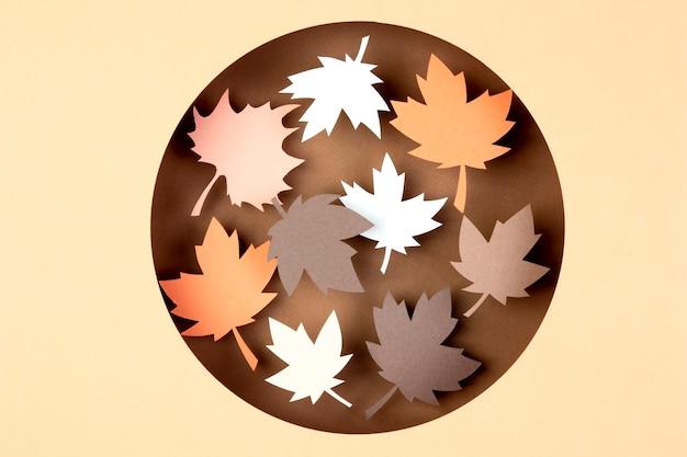 Jesienny asortyment w papierowym stylu paper