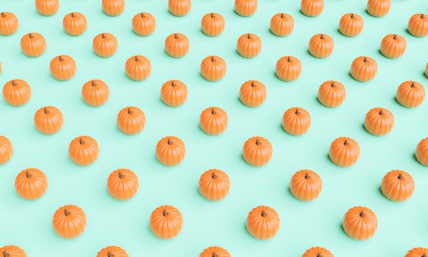 Jesienny wzór dyni na pastelowym tle