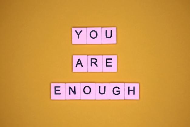 Jesteś wystarczający,