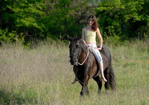 Jeździecka kobieta