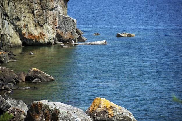 Jezioro superior rocky shore