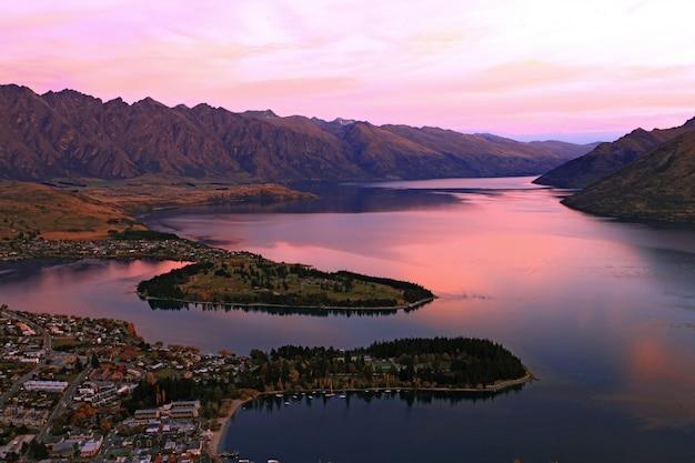 Jezioro Wakaitipu Premium Zdjęcia