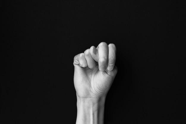 Język migowy litera alfabetu n